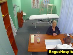 Czech patient riding doctors dick