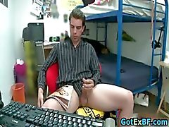 Hot ex boyfriend caught jerking his nice part1