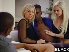 BLACKED First Interracial For Elsa Jean And Zoey Monroe