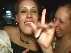 Girls Flashing Teasing in Party by snahbrandy