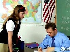 Sweet schoolgirl Lara Brookes needs extra points to pass