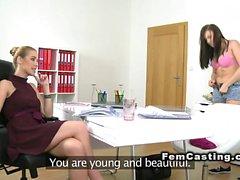 Female agent toys brunette beauty