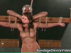 Bondage sex video with cute chick tied