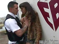Dirty street hooker Alyssa Divine fucked by the fuzz