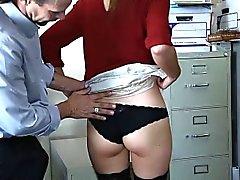 Verlockenden virgin Büromädchen Shyla Stern Ryder ruft analen gefickt
