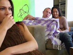 Sweet teen babysitter seduced hot couple first time Mommy