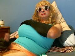 Virginia in panties and tank top