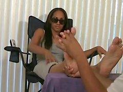 Hot Ebony girls stinky feet & socks