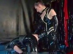 Latex Domina with Huge Strapon