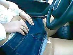 Araç Alman Karı Yanıp Göğüsler