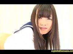 Jav adolescente Yoko Kondo burla que saca su uniforme