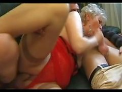 Two blonde bbw anal mom in groupsex dp