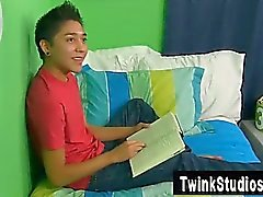 Gay orgy Brycen Russell is kicking back on his sofa when