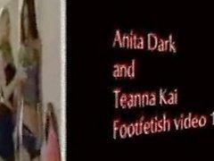 Anita Dark Teanna Kai lesbian foot fetish