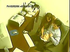 Cochonne Office astique travailleur de co en cam