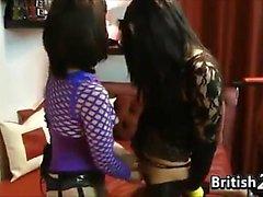 Naughty British Femdom And Her Slave