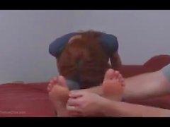 bbw feet tickled