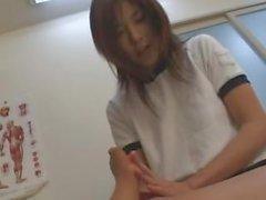 Asian foot licking