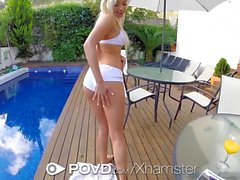 POVD - Anal plug and fuck by the pool with Naomi Nevena
