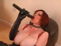 Mature British Latex Milf Dildo Big Tits