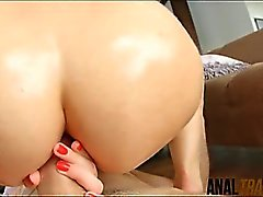 Round booty Russian cutie Aurelly Rebel gets anal wrecked
