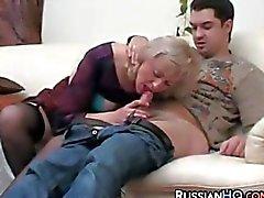 Smoking Mature Woman Having Sex