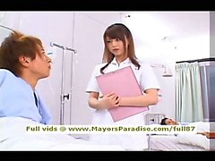 Akiho Yoshizawa smart naughty Asian nurse likes to do blowjob
