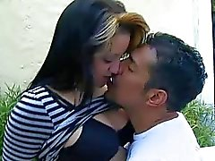 Horny latina Gina Hulk pick up a dude outdoor