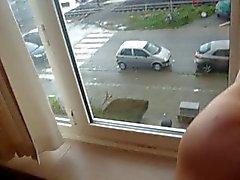 neuken mijn vrouw op het raam , toen de zorg verleden