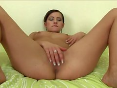 Sexy Brunette Goes Solo