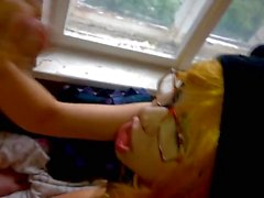 Young ginger blowjob and load in mouth