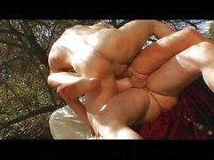 Audrey Hollander enjoying threesomes outdoors