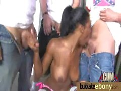 Ebony Babe Sucks Group Of White Guys 30