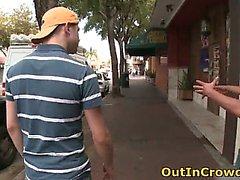 Homosexuell Twink Kotzen auf der Städtische Straße INHABER Teil2