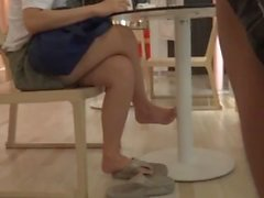 Candid Remarkable Asian Legs and Feet