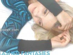 Unleashed fantasies of blonde pornstar