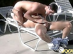 Nino and Emilio initiate a hot man-on-man suck'n'fuck fest !
