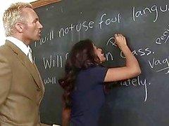 Schoolgirl nailed hard