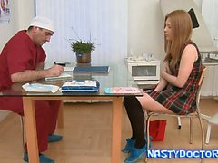 Old Fat Gynecologist does Teen beauty