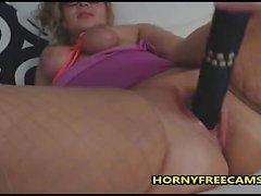 Madura mujer gorda masturbación