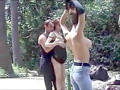 sexo em público francês no parque