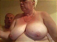 Fat vanha blondi amatööri mummon leviää hänen pullea pillua laajasaa naulattu ukko