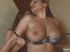 Busty lesbian seduction with Taylor Vixen and Aria Giovanni