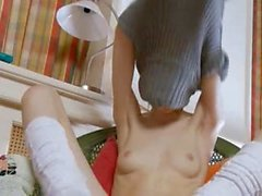 White socks and ultracute masturbation