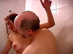 oldman & suzy in the bathroom
