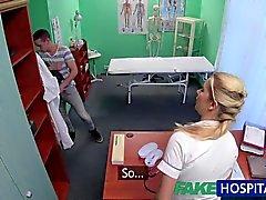 FakeHospital travado dar enfermeira da uma Creampie