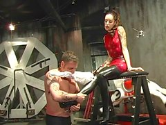 Male slave humiliated by his mistress