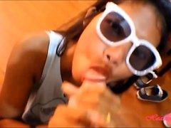 tiny thai teen oriental teen heather deep facial on glasses