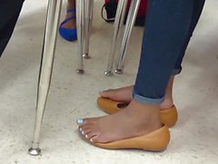 My Friend's Candid Shoeplay in School
