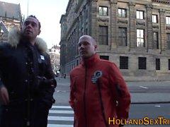 Prostituta holandesa fica jizzed